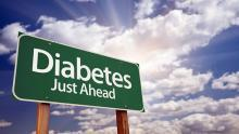 "Road sign that reads ""Diabetes Just Ahead"""